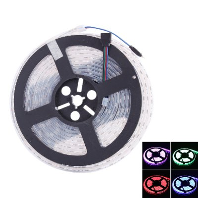 5M 72W 300 SMD 5050 LED Waterproof Flexible RGB Light StripLED Strips<br>5M 72W 300 SMD 5050 LED Waterproof Flexible RGB Light Strip<br><br>Type: LED Strip<br>Connector Type: 4PIN<br>Light Color: RGB<br>CCT/Wavelength: 620-630nm, 515-525nm, 465-475nm<br>Voltage (V): DC12<br>Output Power(W): 72W<br>Actual Lumen(s): 3000LM<br>Features: IP-67, Waterproof<br>Length (m): 5m<br>LED Type: SMD-5050<br>Number of LEDs: 60 SMD-5050/m<br>Product weight: 0.230 kg<br>Package weight: 0.310 kg<br>Product size (L x W x H): 18 x 18 x 1.3 cm / 7.07 x 7.07 x 0.51 inches<br>Package size (L x W x H): 24.5 x 24 x 4 cm / 9.63 x 9.43 x 1.57 inches<br>Package Contents: 1 x LED Light Strip