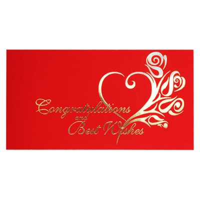 Congratulations and Best Wishes Style 1 5 Pcs / Set Wedding Spring Festival Red Packet 90 x 170mm