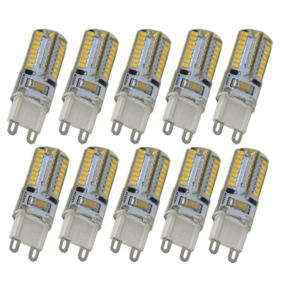 10 x G9 4W 210LM SMD 3014 64 LED Corn Light 3000K