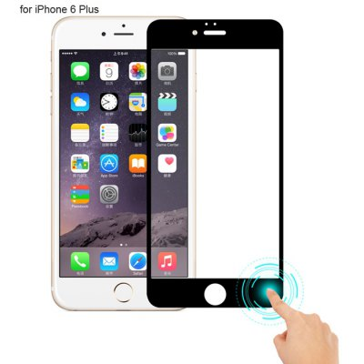 Angibabe Tempered Glass Screen Protector for iPhone 6 Plus Color Screen Printing Smart Touch Return Key 9H 0.3mm 2.5D Arc Ultra-thin