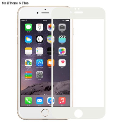Angibabe Tempered Glass Screen Protector Film for iPhone 6 Plus Color Screen Printing Process 9H 0.3mm Ultra-thin