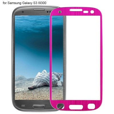 Angibabe Tempered Glass Screen Protector Film for Samsung Galaxy S3 I9300 Ti Alloy Brushed Design 0.3mm Thickness Ultra-thin