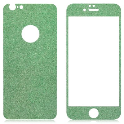Фотография Angibabe Tempered Glass Front and Back Protector Film for iPhone 6 / 6S Plus Shimmering Powder Design 0.3mm Thickness