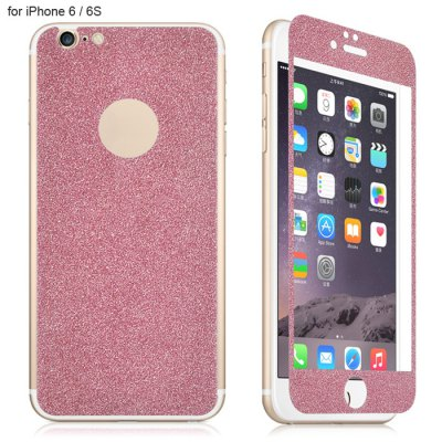 Angibabe Tempered Glass Front and Back Protector Film for iPhone 6 / 6S Shimmering Powder Design 0.3mm Thickness