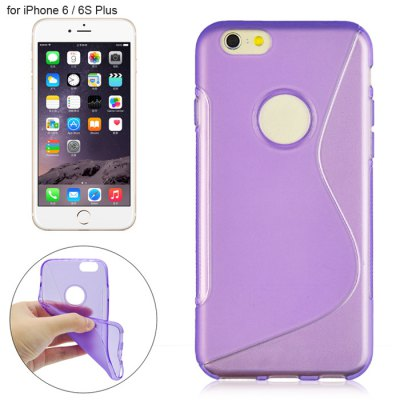 Angibabe Phone Back Case Protector for iPhone 6 / 6S Plus TPU Material with Round Hole S Design