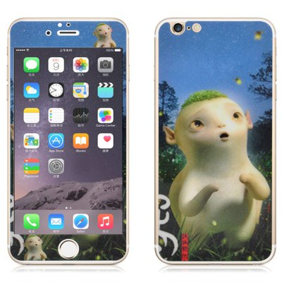 Гаджет   Angibabe Tempered Glass Front and Back Protector Film for iPhone 6 / 6S Plus Monster Hunt Huba Design 0.3mm Thickness