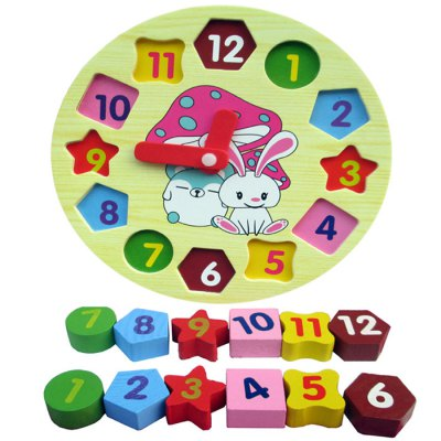 B99 Rabbit Digital Block Clock for Children Intelligent ToyLogic &amp; Puzzle Toys<br>B99 Rabbit Digital Block Clock for Children Intelligent Toy<br><br>Product Model: B99<br>Type: Building Blocks<br>Age: 1 Years+<br>Material: Wood<br>Small Parts : Yes<br>Washing : No<br>Applicable gender: Unisex<br>Package Weight   : 0.32 kg<br>Package Size (L x W x H)  : 18.5 x 18.5 x 2.7 cm / 7.27 x 7.27 x 1.06 inches<br>Package Contents: 1 x Rabbit Digital Block Clock