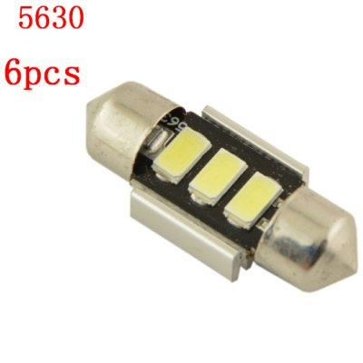 6pcs Carking Reading LightsCar Lights<br>6pcs Carking Reading Lights<br><br>Type   : Reading Lights<br>Connector: Double pointed<br>LED type: SMD 5630<br>LED Quantity: 3 LED<br>Lumen: 120lm<br>Emitting color : White<br>Color temperatures: 6500K<br>Voltage  : 12V<br>Power : 1.5W<br>Type of lamp-house : LED<br>Features: Low Power Consumption, Easy to use<br>Product weight   : 0.017 kg<br>Package weight   : 0.050 kg<br>Product size (L x W x H)  : 3.1 x 1.2 x 0.9 cm / 1.22 x 0.47 x 0.35 inches<br>Package size (L x W x H)  : 11 x 6.5 x 1.5 cm / 4.32 x 2.55 x 0.59 inches<br>Package contents: 6 x Festoon Light