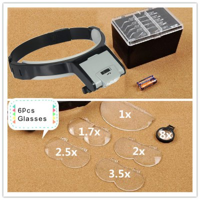 MG81001-B2 Portable LED Head Lights Magnifier