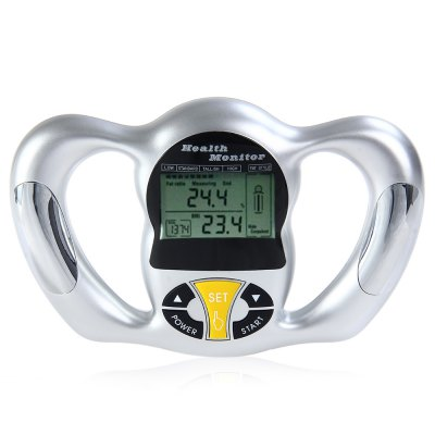 BZ - 2009 Hand Held Body Fat Analyzer Body Mass Index MeasurementExercise Machines<br>BZ - 2009 Hand Held Body Fat Analyzer Body Mass Index Measurement<br><br>Color: As Picture Shown<br>Package Content: 1 x  Body Fat Monitor, 1 x Bilingual Manual in Chinese and English<br>Package Size(L x W x H): 24.50 x 17.00 x 5.00 cm / 9.65 x 6.69 x 1.97 inches<br>Package weight: 0.3930 kg<br>Product weight: 0.2850 kg