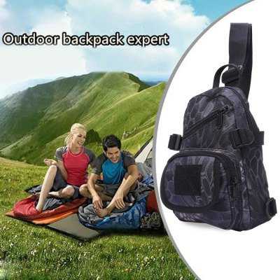 Casual Chest Bag Single-shoulder with Oxford Water-resistant Fabric