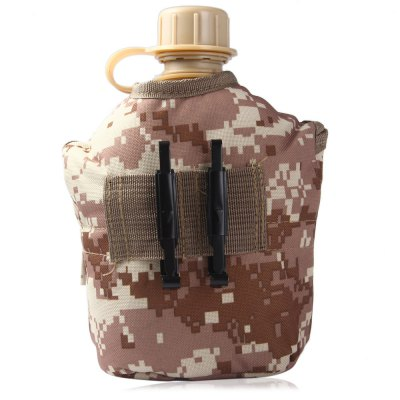 US Camouflage Military Water CanteenCamp Kitchen<br>US Camouflage Military Water Canteen<br><br>Type: Camp Kitchen<br>Material: Nylon, Aluminum alloy, ABS<br>Package Contents: 1 x US Military Cup, 1 x Aluminum Bowl, 1 x Camouflage Pouch
