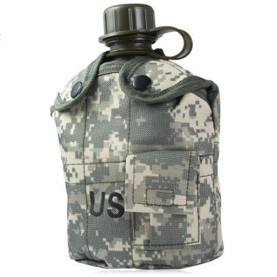US Camouflage Military Water Canteen - 1L