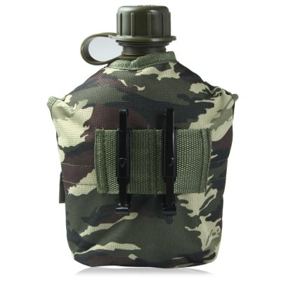 1L US Camouflage Military Water Canteen
