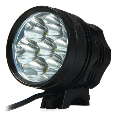 7 LED 10500lm Cycling Front Lamp 3 Modes Headlamp - EU PlugBike Lights<br>7 LED 10500lm Cycling Front Lamp 3 Modes Headlamp - EU Plug<br><br>Material: Aluminum Alloy, Silica Gel<br>Color: Black<br>Suitable for: Road Bike, Mountain Bicycle, Touring Bicycle, Fixed Gear Bicycle<br>Placement: Front<br>Best Use: Backpacking, Camping, Hiking, Climbing<br>Features: Waterproof<br>Luminance: 10500lm<br>LED Quantity: 7<br>Power Supply: 18650 Lithium Battery Pack<br>Voltage: 8.4V<br>Product Weight: 0.548 kg<br>Packge Weight: 0.595 kg<br>Product Dimension: 6.01 x 5.65 x 6.50 cm / 2.36 x 2.22 x 2.55 inches<br>Package Dimension: 22.2 x 7.8 x 7.7 cm / 8.72 x 3.07 x 3.03 inches<br>Package Contents: 1 x Front Bicycle 7 LED 10500lm Light 3 Modes with Adjustable Headband Lithium Battery Pack, 1 x Lithium Battery Pack - EU Plug, 1 x US Battery Charger, 2 x Silicon Circles