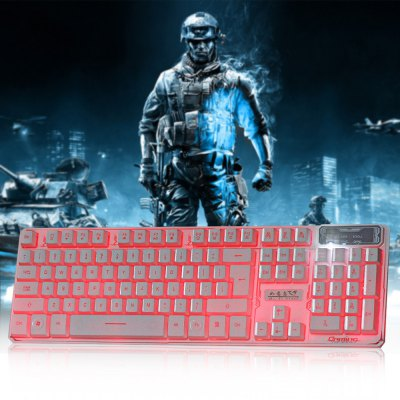 RUYINIAO K30 Three Backlight Colors USB Wired Gaming Keyboard
