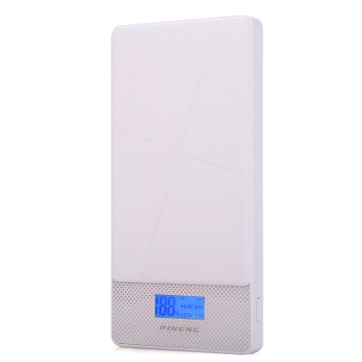Original PINENG PNW - 983S 10000mAh Power BankPower Banks<br>Original PINENG PNW - 983S 10000mAh Power Bank<br><br>Brand: Pineng<br>Type: Portable Mobile Powers<br>Model: PNW - 983S<br>Compatibility  : Universal<br>Capacity (mAh): 10000mAh<br>Special Functions: Multi-Output, Quick Charge, LCD Digital Display, Lightweight<br>Connection Type: Universal<br>Battery type: Li-Polymer Battery<br>Color: White, Pink, Yellow<br>Material: PC<br>Input: 5V 2A<br>Output: 5V 1A and 5V 2.1A<br>Product weight: 0.230 kg<br>Package weight: 0.310 kg<br>Product size (L x W x H) : 14.6 x 7.3 x 1.5 cm / 5.74 x 2.87 x 0.59 inches<br>Package size (L x W x H): 18.0 x 10.0 x 3.0 cm / 7.07 x 3.93 x 1.18 inches<br>Package Contents : 1 x Original PINENG PNW - 983S 10000mAh Dual USB 2.1A 1.0A External Mobile Battery Charger Pack Power Bank with Built-in Li-Polymer Battery Support LCD Display, 1 x USB Cable, 1 x English User Manual