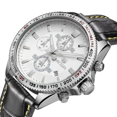 ФОТО MEGIR 3001 30M Water Resistance Men Quartz Watch