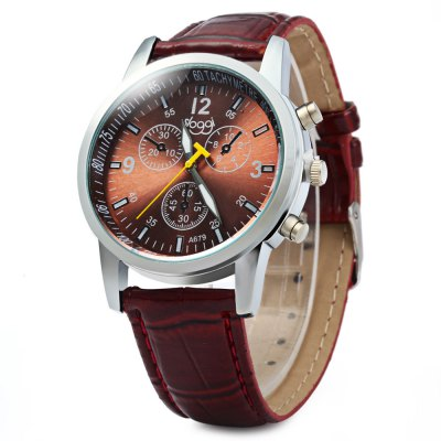 SLOGGI Three Dial Decoration Unisex Quartz Watch with Leather Band