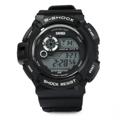 Skmei 0939 Multifunction Sports LED Watch 50M Water ResistantLED Watches<br>Skmei 0939 Multifunction Sports LED Watch 50M Water Resistant<br><br>Brand: Skmei<br>People: Unisex table<br>Watch style: Fashion&amp;Casual,LED,Military,Outdoor Sports<br>Available color: Blue,Orange,Red<br>Shape of the dial: Round<br>Movement type: Digital watch<br>Display type: Digital<br>Case material: PC<br>Band material: PU<br>Clasp type: Pin buckle<br>Special features: Date,Day,EL Back-light,Stopwatch<br>Water resistance : 50 meters<br>The dial thickness: 1.5 cm / 0.6 inches<br>The dial diameter: 4.0 cm / 1.6 inches<br>The band width: 2.2 cm / 0.9 inches<br>Product weight: 0.055 kg<br>Package weight: 0.083 kg<br>Package size (L x W x H): 26.50 x 5.00 x 2.50 cm / 10.43 x 1.97 x 0.98 inches<br>Package Contents: 1 x Watch