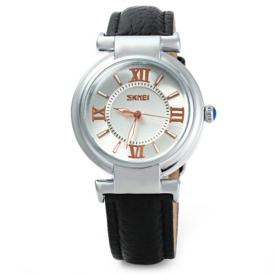 Skmei 9075 Ladies Japan Quartz Watch 30M Water Resistant Leather Band Round DialWomens Watches<br>Skmei 9075 Ladies Japan Quartz Watch 30M Water Resistant Leather Band Round Dial<br><br>Brand: Skmei<br>Watches categories: Female table<br>Available color: Black, White, Red<br>Style : Fashion&amp;Casual<br>Movement type: Quartz watch<br>Shape of the dial: Round<br>Display type: Analog<br>Case material: Stainless steel<br>Band material: Leather<br>Clasp type: Pin buckle<br>Water Resistance : 30 meters<br>The dial thickness: 1.0 cm / 0.4 inches<br>The dial diameter: 3.5 cm / 1.4 inches<br>Product weight: 0.040 kg<br>Product size (L x W x H) : 24 x 3.5 x 1.0 cm / 9.4 x 1.4 x 0.4 inches<br>Package contents: 1 x Watch