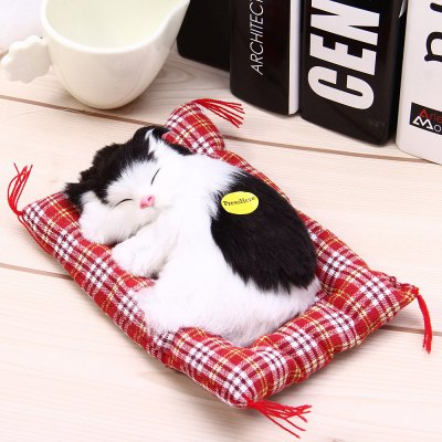 Simulation Sleeping Cat Craft Toy