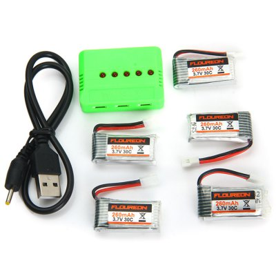 ФОТО Spare KH101 - 011 3.7V 30C 260mAh Battery Set Fitting for Floureon H101 RC Quadcopter