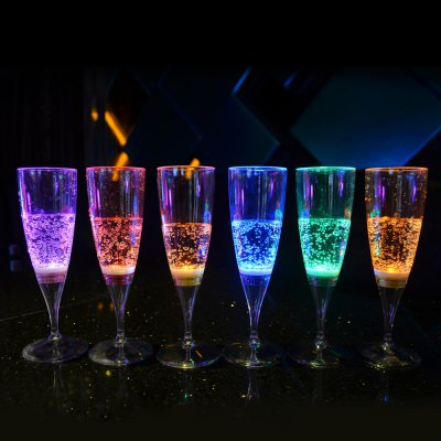 Inductive LED Champagne Glass - 6 Pcs