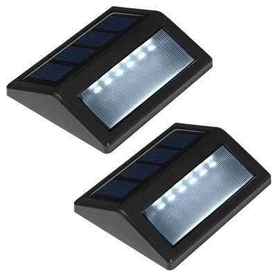 6 LED Light Control Solar Light Lamp 2pcs