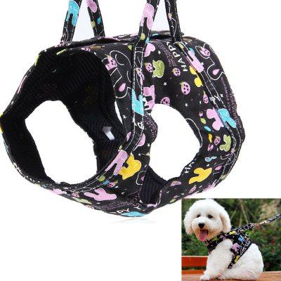 Pet Dog Hauling Cable Collar Leash Traction Belt