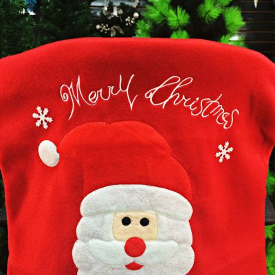Santa Claus Chair Back Cover for Christmas