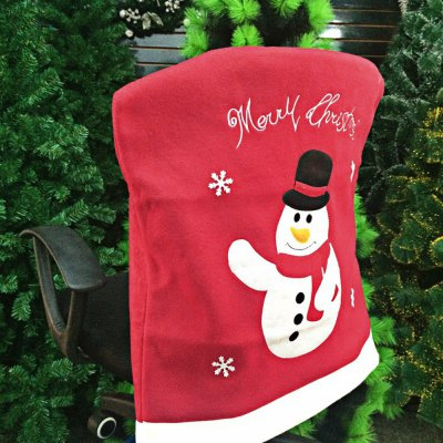 Snowman Chair Back Cover for Christmas