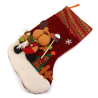 Hanging Stockings Reindeer Pattern for Christmas