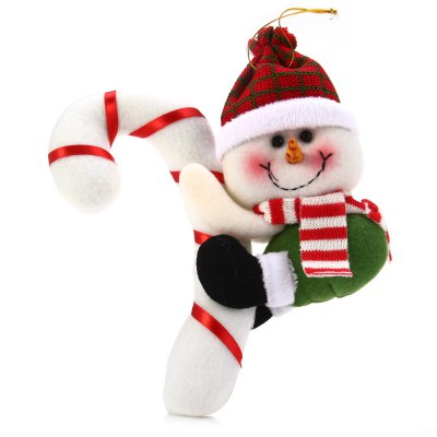 Hanging Snowman with Cane Decoration for Christmas