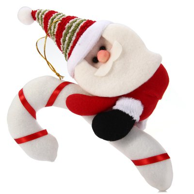 Hanging Santa Claus with Cane Decoration for Christmas