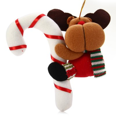 Hanging Reindeer with Cane Decoration for Christmas