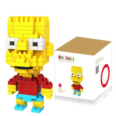 LOZ 200Pcs M - 9337 The Simpsons Bart Simpson Building Block Educational Boy Girl Gift for Spatial Thinking