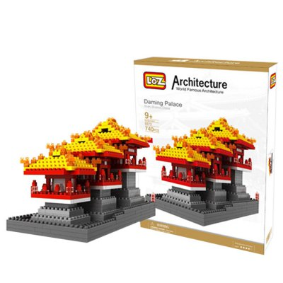 LOZ 740Pcs 9373 Daming Palace Building Block Educational Toy for Cooperative Ability - World Great Architecture Series