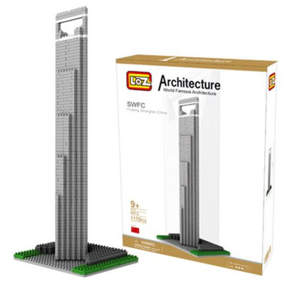 LOZ 1170Pcs 9372 Shanghai Financial Center Building Block Educational Toy for Cooperative Ability - World Great Architecture Series