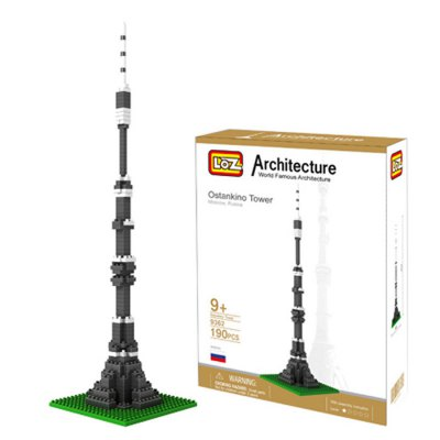 LOZ 190Pcs 9362 Moscow Tower Building Block Educational Toy for Cooperative Ability - World Great Architecture Series