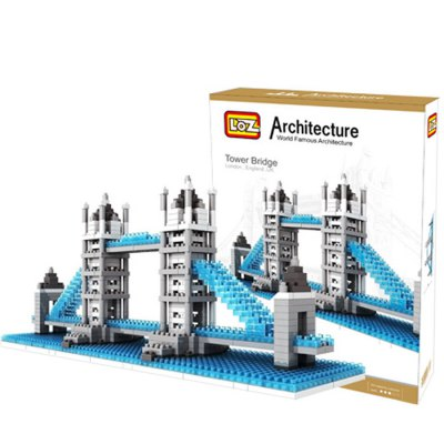 LOZ 570Pcs 9371 London Bridge Building Block Educational Toy for Cooperative Ability - World Great Architecture Series