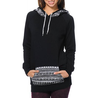 Chic Hooded Long Sleeve Geometric Print Womens HoodieWomens Hoodies &amp; Sweatshirts<br>Chic Hooded Long Sleeve Geometric Print Womens Hoodie<br><br>Material: Polyester<br>Clothing Length: Long<br>Sleeve Length: Full<br>Style: Fashion<br>Pattern Style: Geometric<br>Weight: 0.376KG<br>Package Contents: 1 x Hoodie