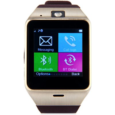 GV18 Aplus Smart Watch PhoneSmart Watch Phone<br>GV18 Aplus Smart Watch Phone<br><br>Type: Watch Phone<br>External memory: TF card up to 32GB (not included)<br>Wireless Connectivity: Bluetooth<br>Network type: GSM<br>Frequency: GSM850/900/1800/1900MHz<br>Bluetooth: Yes<br>Screen size: 1.54 inch<br>Camera type: Single camera<br>SIM Card Slot: Single SIM(Micro SIM slot)<br>TF card slot: Yes<br>Speaker: Supported<br>Languages: English, Russian, Spanish, Portuguese, Turkish, Italian, French, German, Polish, Dutch<br>Note : If you need any specific language other than English and you must leave us a message when you checkout<br>Cell Phone: 1<br>Battery: 450mAh polymer battery x 1<br>USB Cable: 1<br>English Manual : 1<br>Product size: 23.500 x 3.950 x 1.230 cm / 9.252 x 1.555 x 0.484 inches<br>Package size: 13.500 x 7.300 x 5.800 cm / 5.315 x 2.874 x 2.283 inches<br>Product weight: 0.065 kg<br>Package weight: 0.195 kg