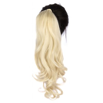 Fashion Long Capless Attractive Shaggy Wave Heat Resistant Fiber Ponytail For Women