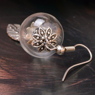 Pair of Trendy Glass Ball Dandelion Leaf Earrings For WomenEarrings<br>Pair of Trendy Glass Ball Dandelion Leaf Earrings For Women<br><br>Earring Type: Drop Earrings<br>Gender: For Women<br>Style: Trendy<br>Shape/Pattern: Plant<br>Length: 6.5CM<br>Weight: 0.04KG<br>Package Contents: 1 x Earring(Pair)