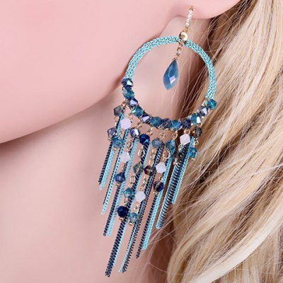 Pair of Classic Faux Crystal Tassels Earrings For Women от GearBest.com INT