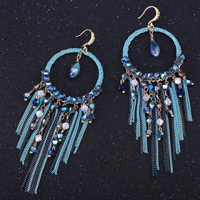 Pair of Classic Faux Crystal Tassels Earrings For WomenEarrings<br>Pair of Classic Faux Crystal Tassels Earrings For Women<br><br>Earring Type: Drop Earrings<br>Gender: For Women<br>Material: Crystal<br>Style: Classic<br>Shape/Pattern: Others<br>Length: 11CM<br>Weight: 0.060KG<br>Package Contents: 1 x Earring(Pair)