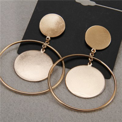 Pair of Stunning Round Hollow Out Earrings For Women