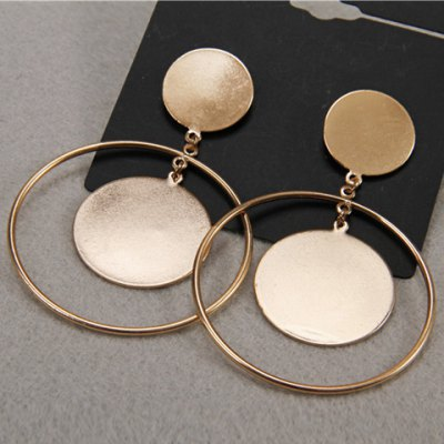Pair of Hollow Out Round Earrings