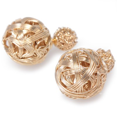 Stylish Versatile Plated Sterling Metal Wire Ball Stud EarringsEarrings<br>Stylish Versatile Plated Sterling Metal Wire Ball Stud Earrings<br><br>Earring Type: Stud Earrings<br>Gender: For Women<br>Style: Trendy<br>Shape/Pattern: Others<br>Length: 1.7cm<br>Weight: 0.02KG<br>Package Contents: 1 x Pair of Stud Earrings